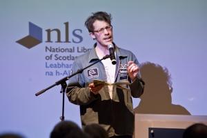 Harry Giles at StAnza's Edinburgh Preview, January 2013/Chris Scott