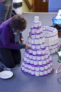 Lucilla Sim assembles the ticket chandelier