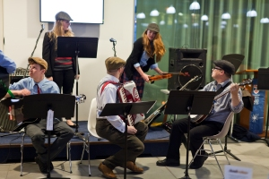 St Andrews Buchanan Quartet, tuning up at StAnza's launch