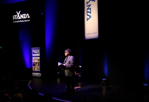 Paul Muldoon at StAnza 2014, photograph by Helena Fornells