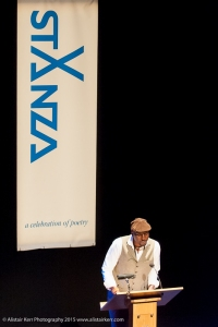 Kei Miller at StAnza 2015, photo www.alistairkerr.com